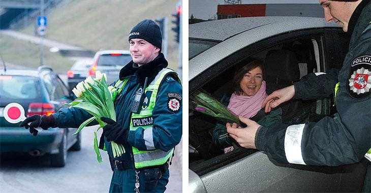 Dette gjorde politiet i Litauen på kvinnedagen – Ikke alle liker det!