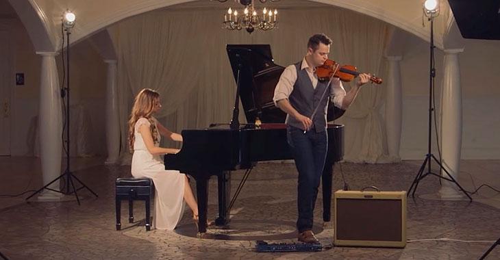 Han spiller 3 fiolinstemmer samtidig. Resultatet? En gåsehud-versjon av «Hallelujah»!