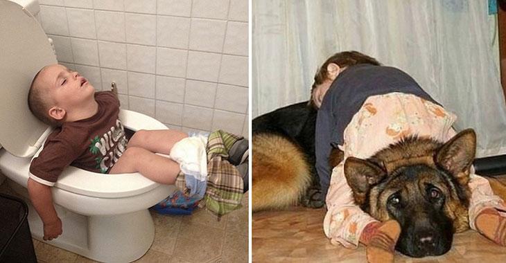 10 bevis på at barn kan sovne akkurat hvor det passer dem. Snakk som bedårende sovehjerter!
