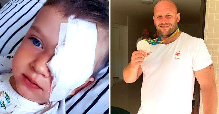 Gutten trengte 1 million kroner til kreftbehandling. Denne atleten solgte OL-medaljen sin for å hjelpe.
