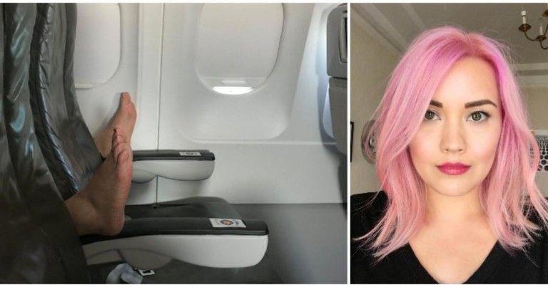 Jessie har akkurat satt seg til rette i flyet da armlenene faller ned…