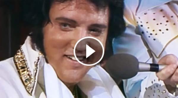Har du sett Elvis slik før? Dette opptaket viser hvor stor kongen var!